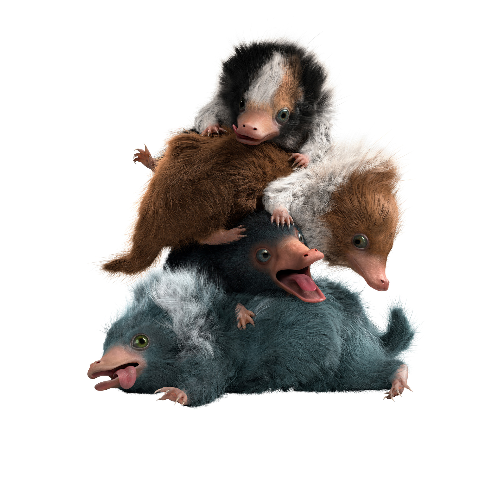 Baby Nifflers from Fantastic Beasts The Crimes of Grindelwald. Image  Warner Bros.
